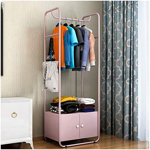 LYHOME Kleiderablage Einfache Moderne Garderobe Schlafzimmer Kleiderbügel Schuhregal mit Schrankboden Home Kleiderbügel Multifunktions...