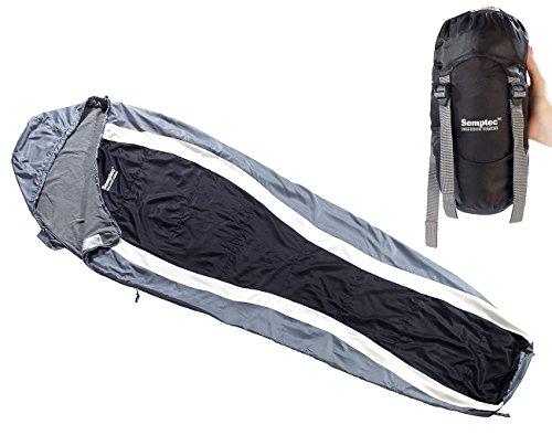 Semptec Mumienschlafsack: Leichter Mumien-Schlafsack mit Fleece-Futter, 215 x 75 x 50 cm (Sommer-Schlafsack)