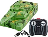 #5: 360 Degree Rotating RC Wall Climber Surgical Strike Tank with LED Head Light - Green (Green)
