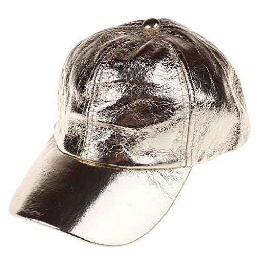 Allegorly PU Baseball Cap, Basecap Unisex Baseball Kappen, Baseball Mützen für Draussen, Sport oder auf Reisen - Volltonfarbe Mütze Baseballkappe, Einstellbar Mütze