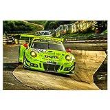 artboxONE Poster 90x60 cm Karussellfahrt Porsche 911GT3 R von Künstler Peter Elbert