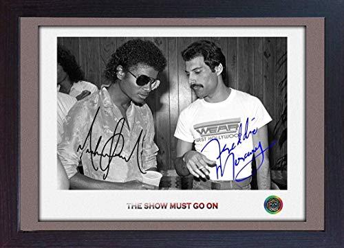SGH SERVICES Autogramm mit Autogramm, Motiv Freddie Mercury Queen Michael Jackson