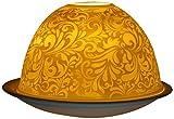 Himmlische Düfte Geschenkartikel DL0025 Ornamente Windlicht Porzellan 12 x 12 x 8 cm, weiß