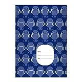 Kartenkaufrausch 1 Außerirdisches DIN A4 Schulheft, Schreibhefte mit coolen Mars Männchen, Robotern in blau Lineatur 21 (liniertes Heft)
