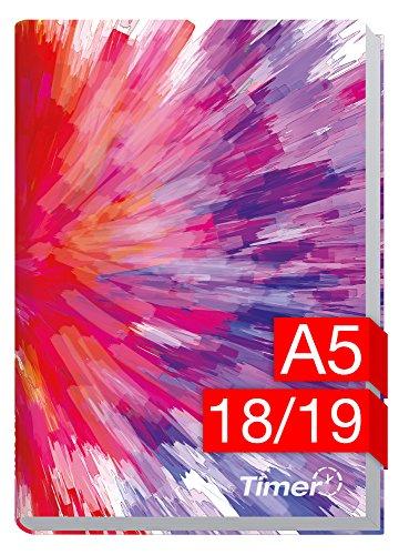 Chäff-Timer Classic A5 Kalender 2018/2019 [Farbrausch] 18 Monate Juli 2018-Dezember 2019 - Terminkalender mit Wochenplaner - Organizer - Wochenkalender