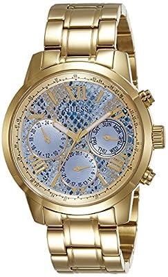 Guess W0330L13 - Reloj de pulsera para mujer, color blanco / plata