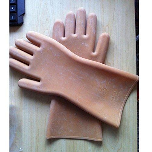 5kv 12KV isolierte Handschuhe Hochspannung anti-elektrische Gummihandschuhe elektrische Handschuhe leben Betrieb Handschuhe (Isolierte Handschuhe)