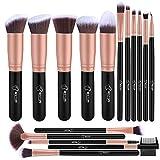 BESTOPE Make-up Pinsel Set- 16pcs Premium Kosmetik mit sehr weich Kunsthaar wie Samt- Kabuki Foundation Blush Eyeshadow Eyeliner Kompaktpuder Abdeckcremes die Schönheit Tools, Rosa Gold