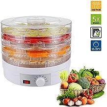 5 bandejas regulable desmontable Deshidratador de alimentos Desecador para frutas y verduras 245w cable de 1.1m