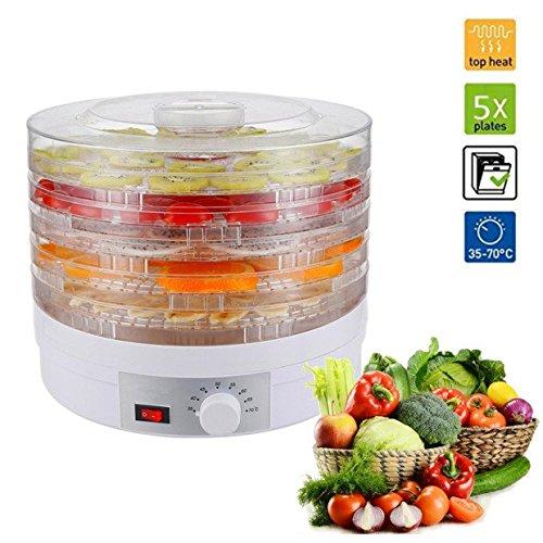 5-bandejas-regulable-desmontable-Deshidratador-de-alimentos-Desecador-para-frutas-y-verduras-245w-cable-de-11m
