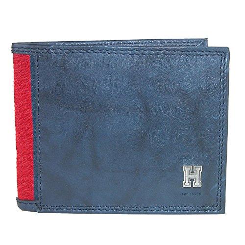 Tommy Hilfiger Herren Geldbörse mit RFID-blockierendem Leder, extra Kapazität - Blau - Einheitsgröße -