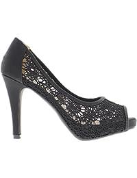 ChaussMoi - Zapatos de vestir de sintético para mujer, color blanco, talla 44 EU