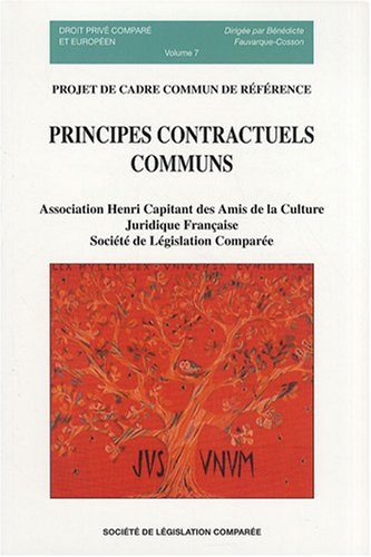 Principes contractuels communs : Projet de cadre commun de rfrence