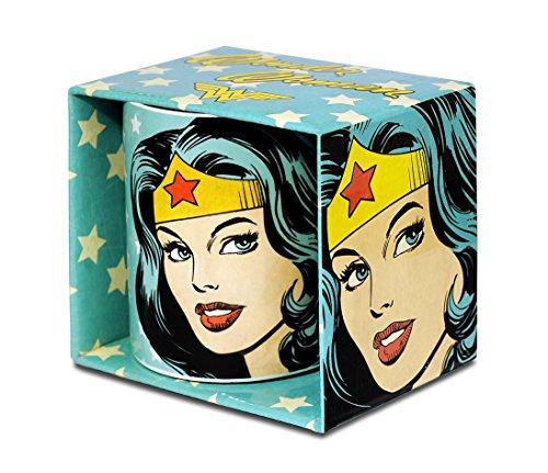 DC Comics - Wonder Woman Portrait Porzellan Tasse - Kaffeebecher - türkis - Lizenziertes Originaldesign - Logoshirt