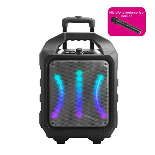 Woxter Rock'n'Roller RX - Altavoz inalámbrico transportable (Altavoz Trolley Bluetooh, Autoamplificado 80W,Display...