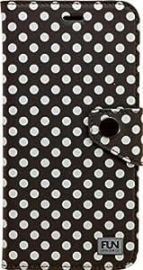 IPHORIA FUN Book Case Etui pour Phone 6 Plus Motif Little Dots Noir