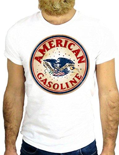 T SHIRT JODE Z163 AMERICAN GASOLINE USA AMERICA NEW YORK FUN NICE LOGO GGG24 BIANCA - WHITE