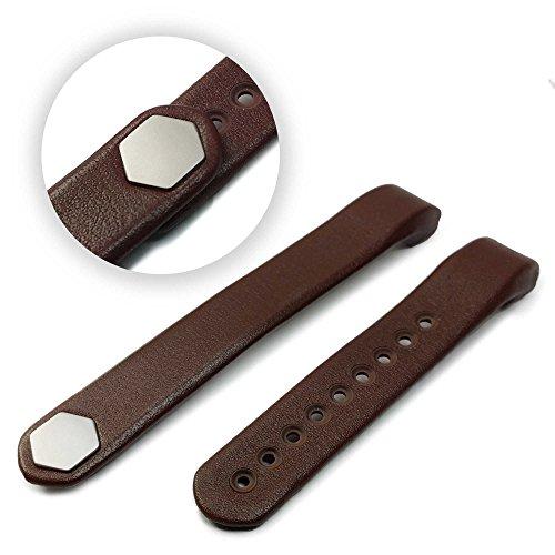 tuff-luv-fitbit-alta-en-cuir-veritable-bracelet-wristband-brun