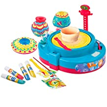 Playgo Paint & Pottery Wheel 2 In 1 B/O, Multi-Colour, 8506, 25 Pcs