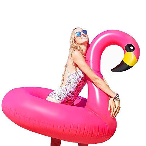 Bramble Großer aufblasbarer Flamingo in Rosa – XL Flamingo aufblasbar – Luftmatratze für den Pool – Schwimmtier Schwimminsel & Badeinsel – Wassertier Floss für Kinder und Erwachsene