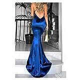 b0740e67cdc2 Vestiti Donna Eleganti Lunghi da Sera Sirena Halterneck Vestiti Donna  Lunghi Abito - Sexy Scollo V