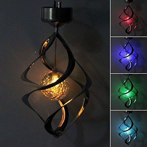StillCool Windspiel Beleuchtung Solar Gartenleuchte außenlampen LED Wind Chime Beleuchtung Farbwechsel Hause Party