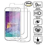 Guran [3 Pezzi] Pellicola Protettiva per Samsung Galaxy S4 Mini Smartphone Ultra Sottile Screen Protector in Vetro Temperato Film Ultra Resistente