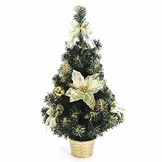 JUINSA Árbol decorado oro decoración de Navidad
