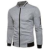 JYJM Herren Zip Cardigan Plaid Sweater Herren Elastische Manschette Jacke  Herren Kurze Jacke Herren Solid Color 5c542a5535