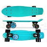 MAXOfit® Mini Cruiser Retro Skateboard Hawaii, 55 cm mit ABEC 9 Kugellagern, sehr hochwertige Verarbeitung