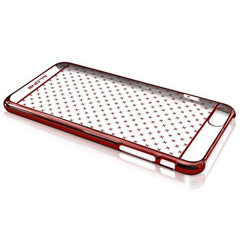 Dokpav® Coque Etui Case Cover Support Antichoc Antipoussière Waterproof pour Smartphone iPhone 6S verte Flash series-rouge