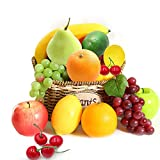 Cheap4uk 10 Different Fruits of Decorative Realistic Artificial Fruit Fake Lemon Banana Apple Grape Pear...