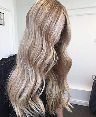 Easoyouth 14 Zoll Einzelstück Hair Topper für Frauen Color # 14 Highlight mit Color # 60 Blonde für Dünner Werdendes Haar Crown Hair Extension. - Crown Hair Extensions