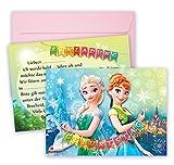 Anna ELSA Einladungskarten für Mädchen Geburtstage 16 teilig Frozen Einladungen zum Geburtstag Party Mädchen Prinzessin Mottoparty Einladung