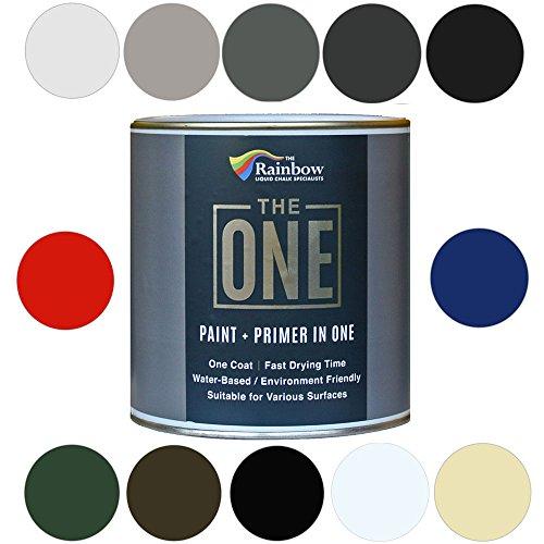 The One Paint Gloss 1Liter–Multi Surface Paint–keine Unterwolle oder Primer erforderlich, weiß