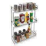 3 Tier Stainless Steel Kitchen Countertop Multipurpose Storage Rack / Bathroom Organizer Shelf Stand by MyGift