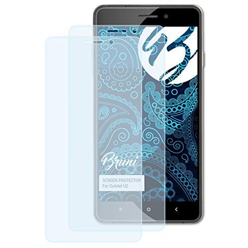 Bruni Schutzfolie kompatibel mit Oukitel U2 Folie, glasklare Bildschirmschutzfolie (2X)