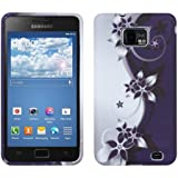 kwmobile TPU SILICONE CASE for Samsung Galaxy S2 S2 PLUS Design flowers Yin Yang white black - Stylish designer case made of premium soft TPU