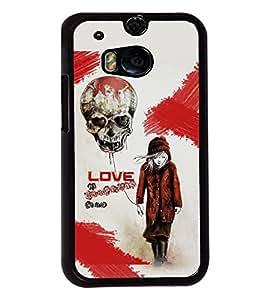 Fuson Love Skull Back Case Cover for HTC ONE M8 - D3739