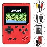 Anpro Consola de Juegos Portátil,Juegos Electrónicos Portátiles con 500 Juegos Clásicos, Modo de Jugadores Dobles, Soporte Connect TV