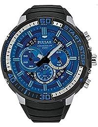 Pulsar PT3551 - Reloj para hombres, correa de goma color negro