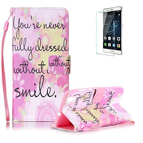 Custodia Huawei Y6 II / Y6 2 in Pelle,Funyye Smile