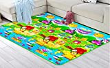 KR STORE™ Waterproof, Anti Skid, Double Sided Baby Crawling Mat - 180cm * 120cm