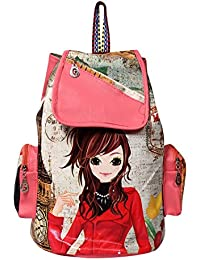 INF Printed Casual Fashion School Leather Backpack Shoulder Bag Mini Backpack Girls & Women's Bag
