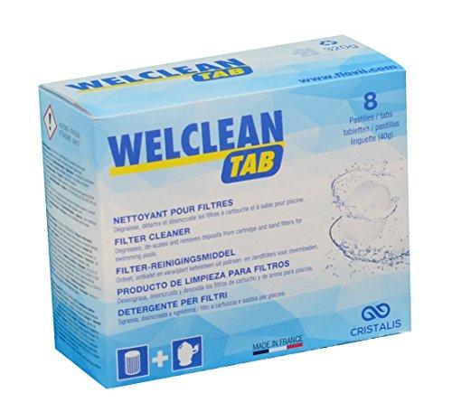 Welclean Tab - Flovil md9294Nettoyant en pastilles pour filtres, blanc