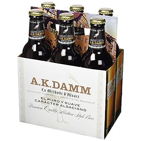 A K Damm Cerveza Paquete de 6 x 330 ml Total 1980 ml