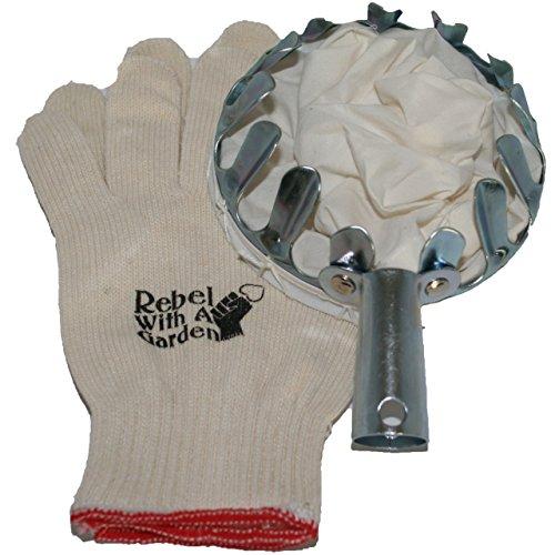 Lange bewaffneten Rebel Obstpflücker Korb Werkzeug für Picking Äpfel, Pfirsiche, Birnen, Pflaumen und Aprikosen mit Bonus Baumwolle Handschuhe von Rebel mit einem Garten