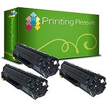 3 Compatibles CE285A / 85A Cartuchos de tóner para HP Laserjet Pro P1102 P1102W M1210 M1210MFP M1212 M1212NF M1213NF M1217NFW M1130 M1132 M1132MFP M1134 M1134MFP M1136 M1136MFP P1100 P1101 P1103 P1104 P1104W P1106 P1108 - Negro, Alta Capacidad