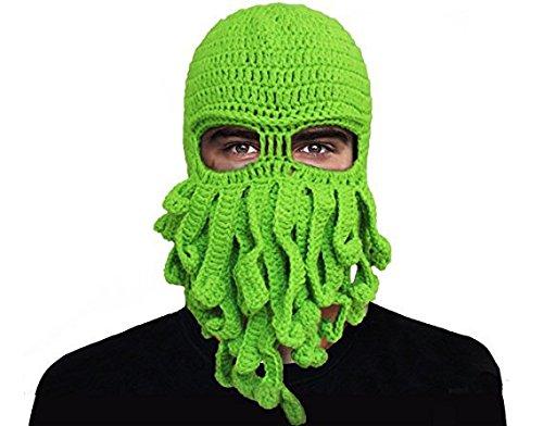 �nner Und Damen Octopus Form Gestrickte Hut Tentakel Extra Wurm Winter Häkeln Beanie Hat,Green ()
