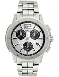 R&Co Men's Quartz Watch with Silver Dial Chronograph Display and Silver Stainless Steel Bracelet RGB00001/42/55
